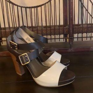 Woman 4 inch block heel multi color sexy sandal